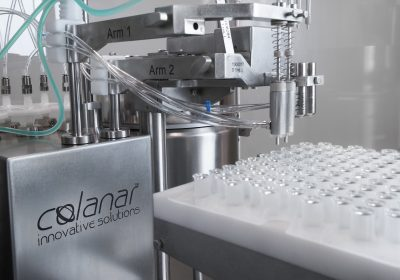 A new technology provides 100% real-time, non-destructive in-process weight checks for clinical scale drug product fills